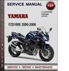 Thumbnail Yamaha FZS1000 2000-2006 Factory Service Repair Manual Download Pdf