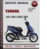 Thumbnail Yamaha JOG CS50 CS50Z 2002 Factory Service Repair Manual Download Pdf