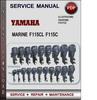 Yamaha Marine F115CL F115C Factory Service Repair Manual Download PDF