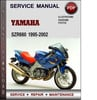 Thumbnail Yamaha SZR660 1995-2002 Factory Service Repair Manual Download PDF