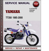 Thumbnail Yamaha TT350 1985-2000 Factory Service Repair Manual Download PDF