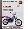 Yamaha TT350 1985-2000 Factory Service Repair Manual Download PDF