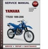 Thumbnail Yamaha TTR250 1999-2006 Factory Service Repair Manual Download PDF