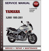 Thumbnail Yamaha XJ900 1995-2001 Factory Service Repair Manual Download PDF