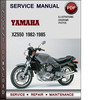 Thumbnail Yamaha XZ550 1982-1985 Factory Service Repair Manual Download PDF