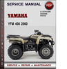 Thumbnail Yamaha YFM 400 2000 Factory Service Repair Manual Download PDF