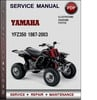 Thumbnail Yamaha YFZ350 1987-2003 Factory Service Repair Manual Download PDF