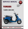 Service Manual Yamaha YJ50RN 2000 2001 2002 2003 Factory Service Repair Manual Download PDF