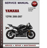 Thumbnail Yamaha YZFR6 2000-2007 Factory Service Repair Manual Download PDF