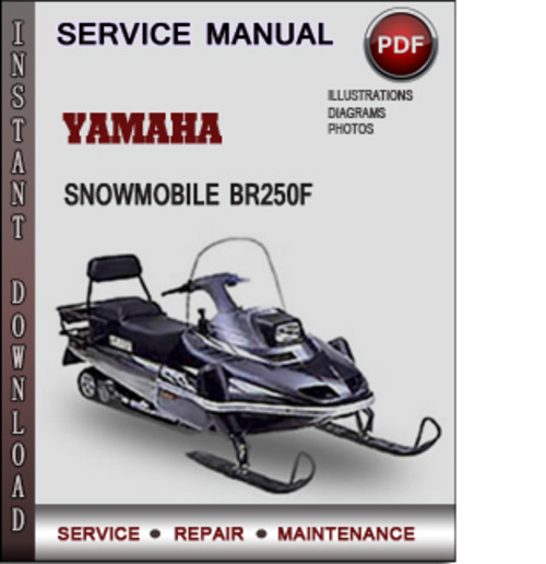 Product picture Yamaha Snowmobile BR250F Factory Service Repair Manual Download PDF