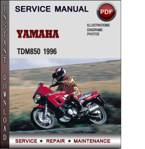 Product picture Yamaha TDM850 1996 Factory Service Repair Manual Download PDF
