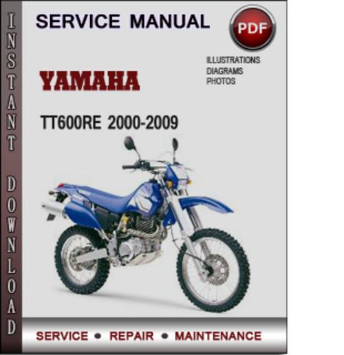 Product picture Yamaha TT600RE 2000-2009 Factory Service Repair Manual Download PDF