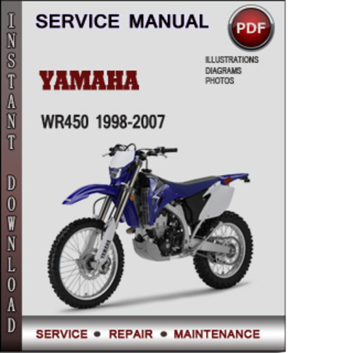 Product picture Yamaha WR450 1998-2007 Factory Service Repair Manual Download PDF