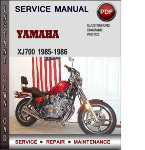 Product picture Yamaha XJ700 1985-1986 Factory Service Repair Manual Download PDF