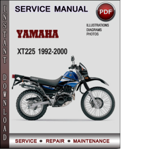 Product picture Yamaha XT225 1992-2000 Factory Service Repair Manual Download PDF