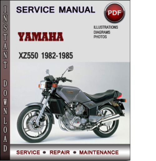 Product picture Yamaha XZ550 1982-1985 Factory Service Repair Manual Download PDF