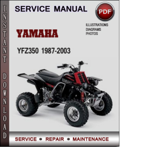 Product picture Yamaha YFZ350 1987-2003 Factory Service Repair Manual Download PDF