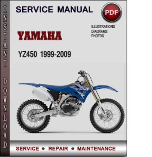 Product picture Yamaha YZ450 1999-2009 Factory Service Repair Manual Download PDF